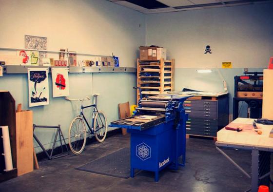 Facebook's print studio