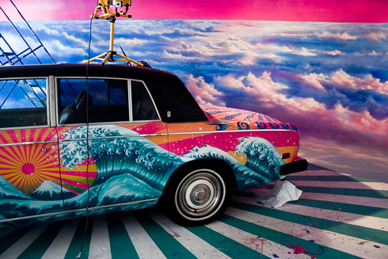 Rolls Royce painted by David LaChapelle courtesy of Maria