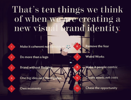 Ten things to think of when creating a visual brand identity