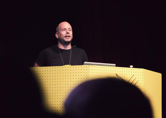 Stuart preaching...