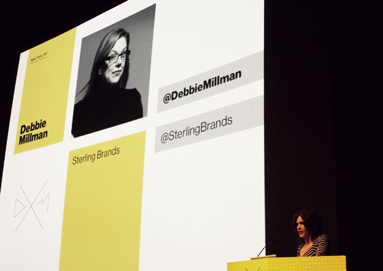 Debbie Millman, introduced by her dear friend, Bryony Gomez-Palacio