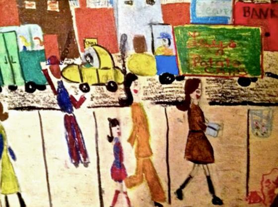 Debbie's painting. (8 years old)