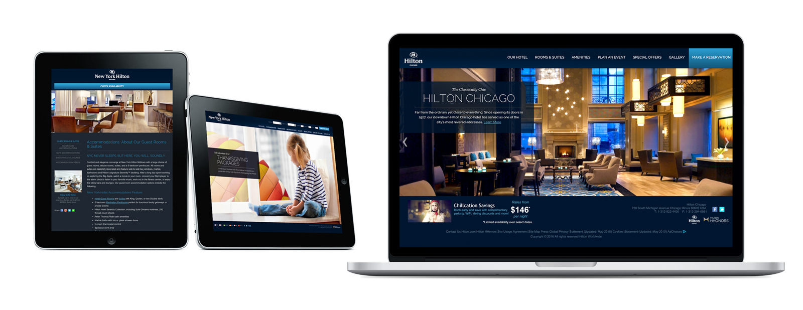 Diego Guevara - Hilton Hotels Identity - Chicago and NY hotels