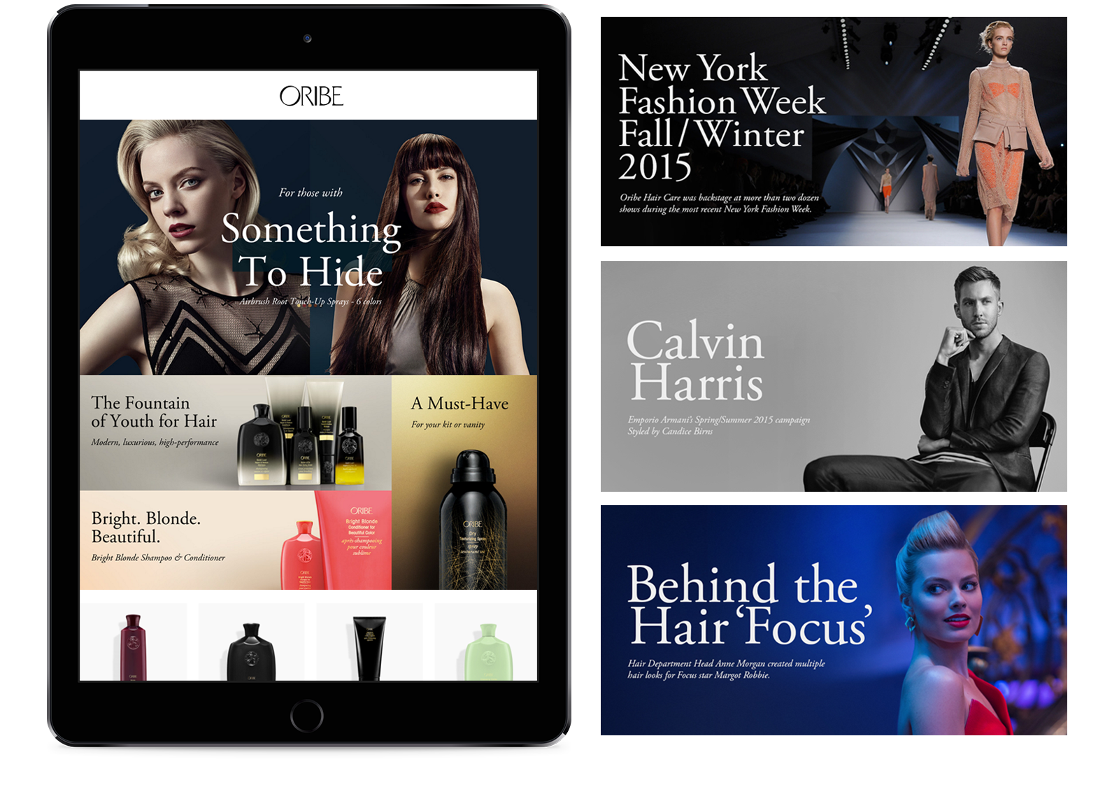 Diego Guevara - Luxury Brand Partners - Web Design - ORIBE
